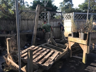 Garden staff assist with cleanup and recovery efforts. Photo by Jennifer Smock.